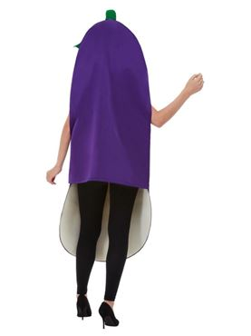 Adult Aubergine Costume - Side View
