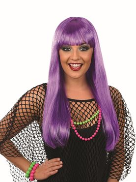 Adult Hot Purple Fringe Wig