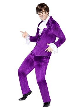 Adult Austin Powers Costume - Back View