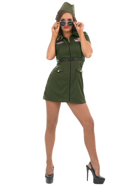 Adult Aviator Girl Costume Couples Costume