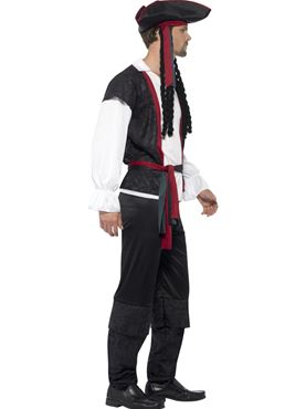 Adult Aye Aye Pirate Captain Costume - Back View