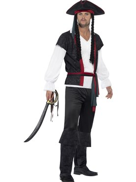 Adult Aye Aye Pirate Captain Costume Couples Costume