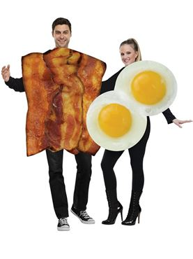 Adult Bacon & Egg Couples Costume