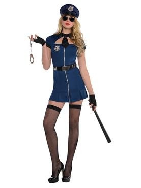 Adult Bad Cop Costume Couples Costume