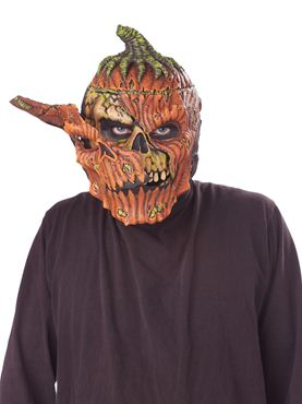 Adult Bad Seed Ripper Pumpkin Mask - Back View
