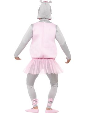 Adult Ballerina Hippo Costume - Back View