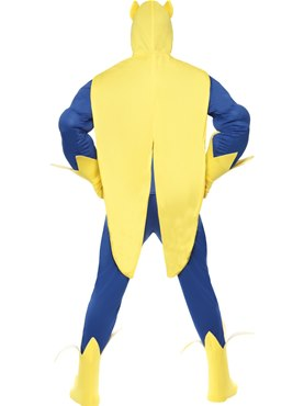 Adult Bananaman Muscle Chest Costume - Side View