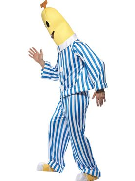 Adult Bananas in Pyjamas Costume - Back View