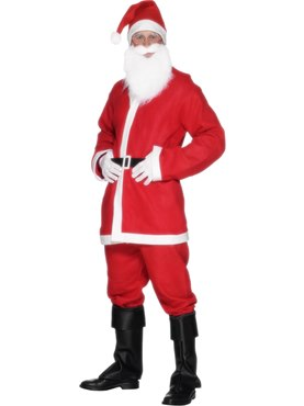 Adult Bargain Santa Costume Couples Costume