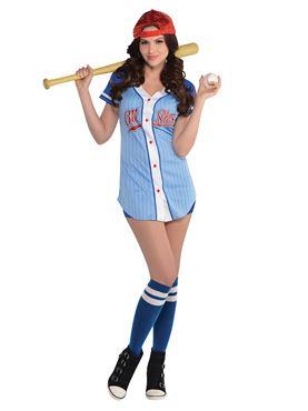 Adult Baseball Babe Costume