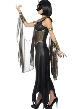 Adult Bastet the Cat Goddess Costume - Back View