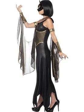 Adult Bastet the Cat Goddess Costume - Back View