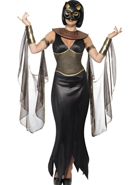 Adult Bastet the Cat Goddess Costume Couples Costume