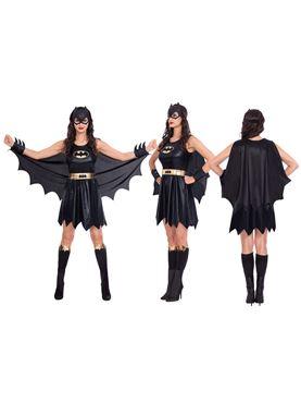 Adult Batgirl Classic Womens Costume - Side View