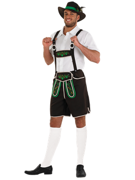 Adult Bavarian Man Lederhosen Costume Couples Costume