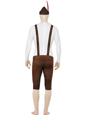 Adult Bavarian Second Skin Costume - Back View
