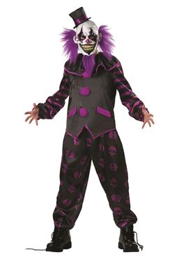 Adult Bearded Clown Costume