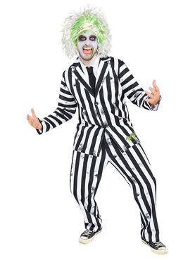 Adult Mens Beetlejuice Costume - Side View