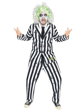 Adult Mens Beetlejuice Costume - Back View