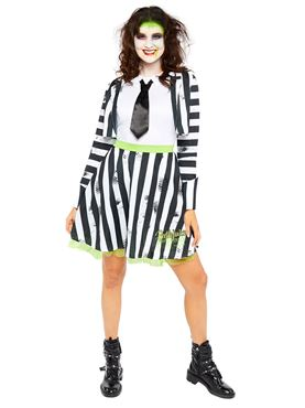 Adult Ladies Beetlejuice Costume - Back View