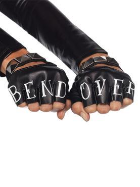 Adult Bend Over Fingerless Gloves