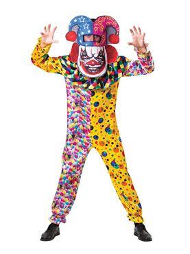 Adult Big Head Clown Costume