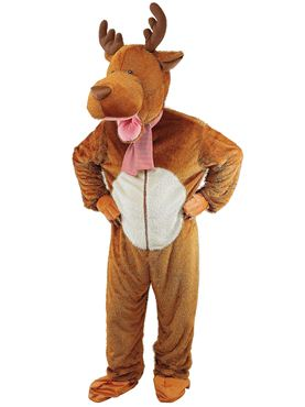 Adult Big Head Reindeer Costume
