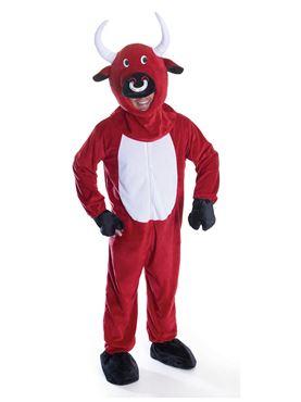Adult Big Head Red Bull Costume