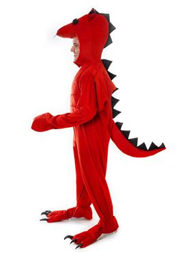 Adult Red Dragon Costume - Back View