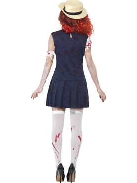 Adult Zombie College Student Costume - Side View