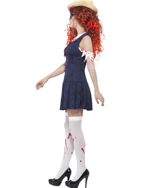 Adult Zombie College Student Costume - Back View