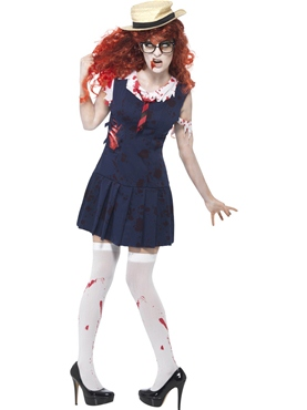 Adult Zombie College Student Costume