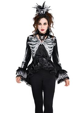 Adult Black and Bone Jacket Couples Costume