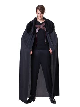Adult Black Cape with Fur Collar