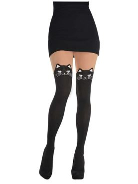 Adult Black Cat Tights