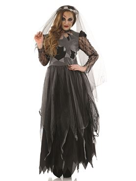 Adult Black Corpse Bride Costume Thumbnail