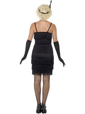 Adult Black Flapper Costume - Side View