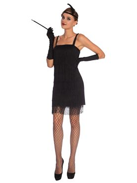 Adult Black Flapper Costume