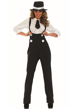 Adult Black Gangster Lady Costume Thumbnail
