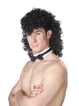 Adult Black Stripper Chippendale Wig