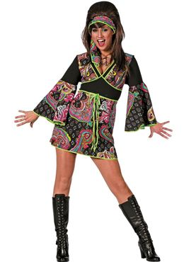 Adult Black Hippy Dress Costume