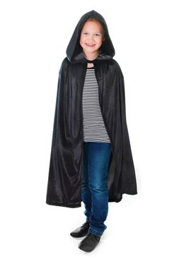 Child Black Hooded Cloak