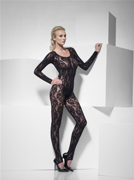 Adult Black Lace Bodysuit