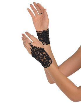 Adult Black Lace Glovelettes