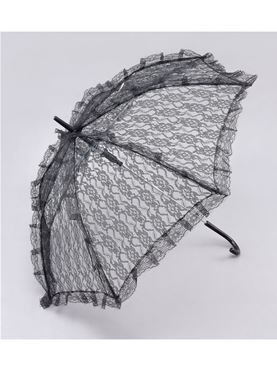 Adult Black Lace Victorian Parasol