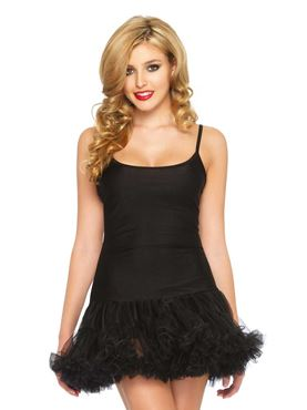 Adult Black Petticoat Dress