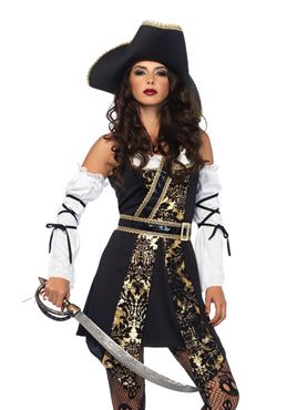 Adult Black Sea Buccaneer Costume