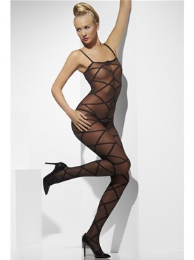 Adult Black Sheer Body Stocking
