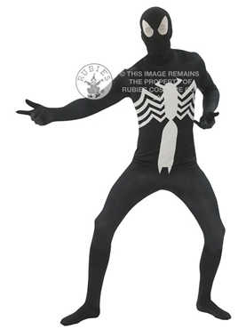 Adult Black Spiderman Second Skin Costume