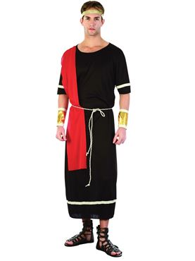 Adult Caesar Black Toga Costume Couples Costume